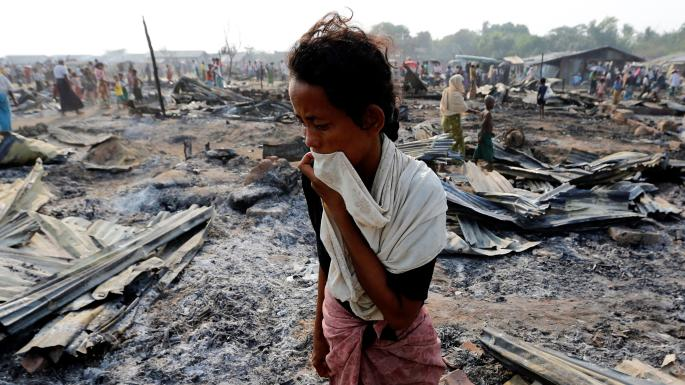 Razed Rohingya Village in Rakhine